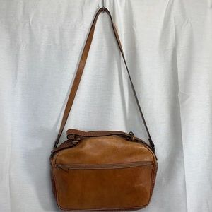 Brown Leather Shoulder Bag Purse